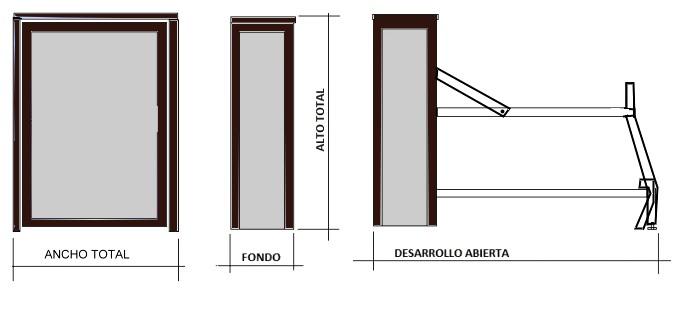 Literas abatibles verticales - Camas abatibles medidas ...
