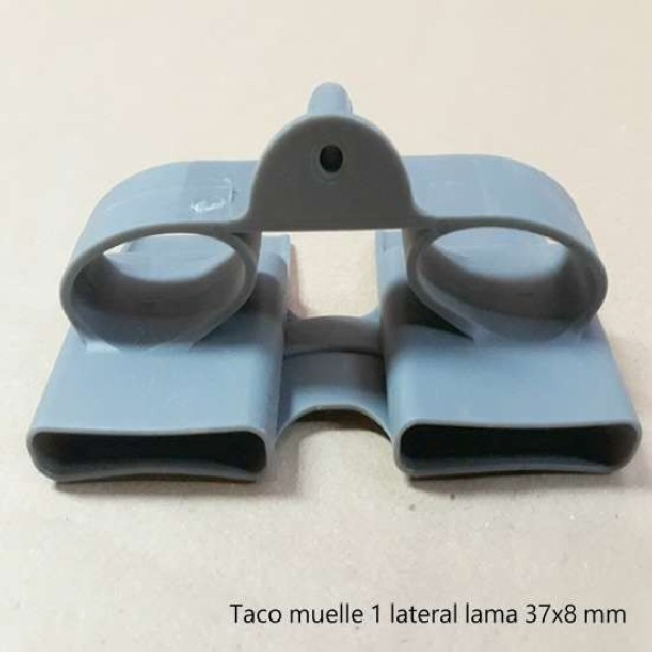 Taco lateral muelle lama doble 37 mm